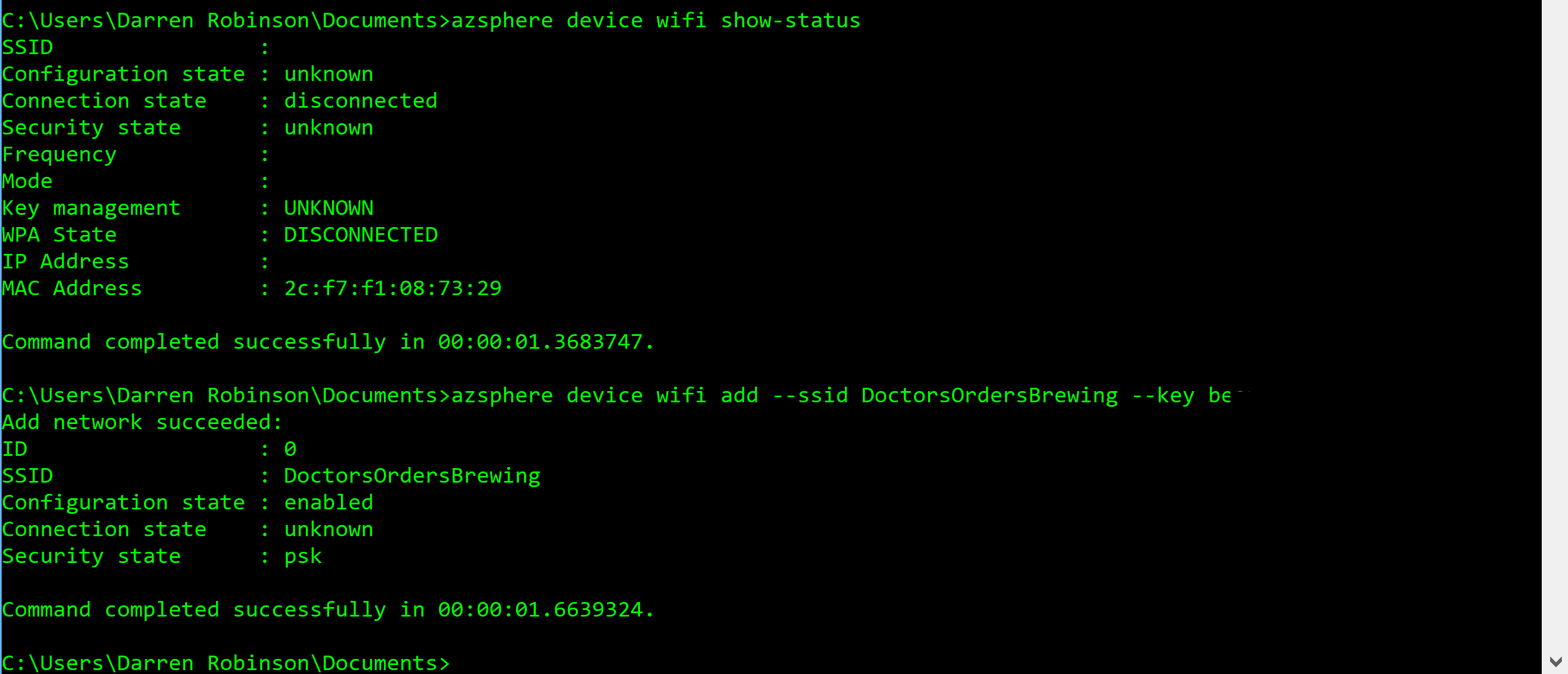 Connect Azure Sphere to Wifi.PNG