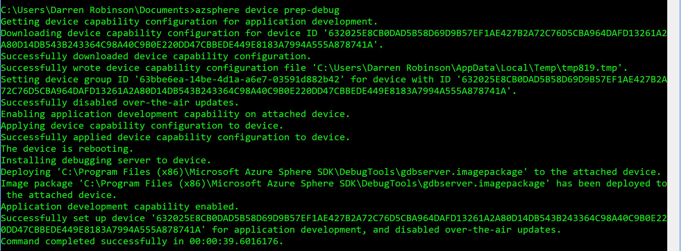 Enable Azure Sphere Debugging.PNG
