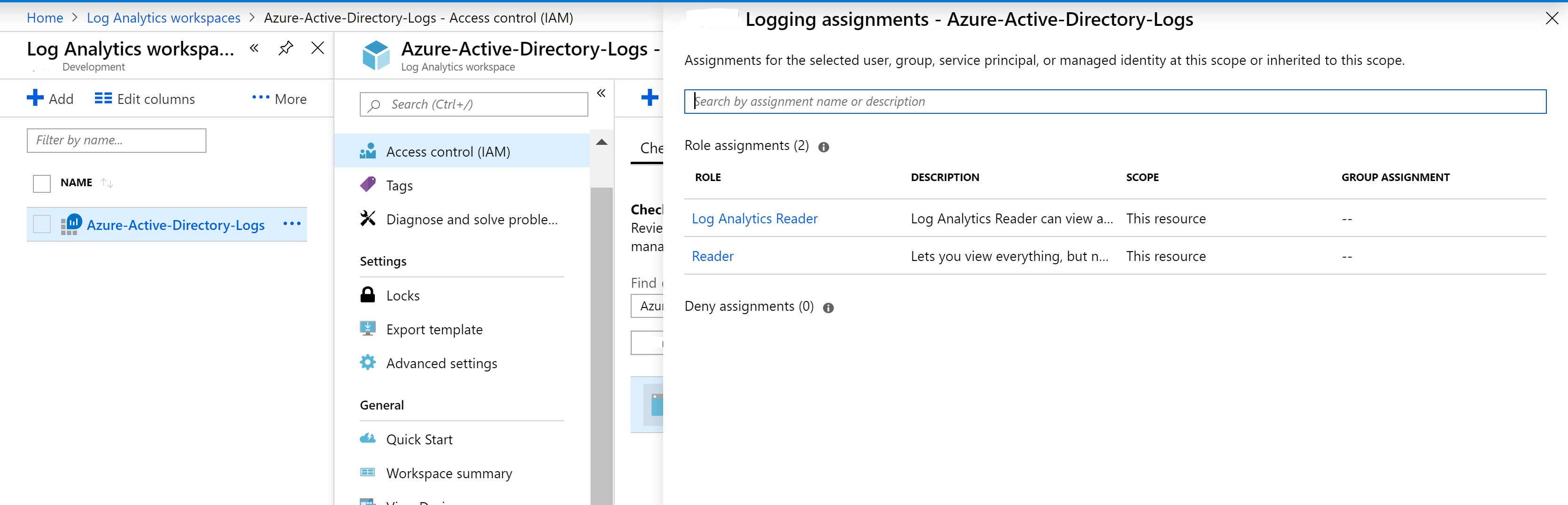 API Access to Log Analytics with KQL - Log Analytics Reader.PNG