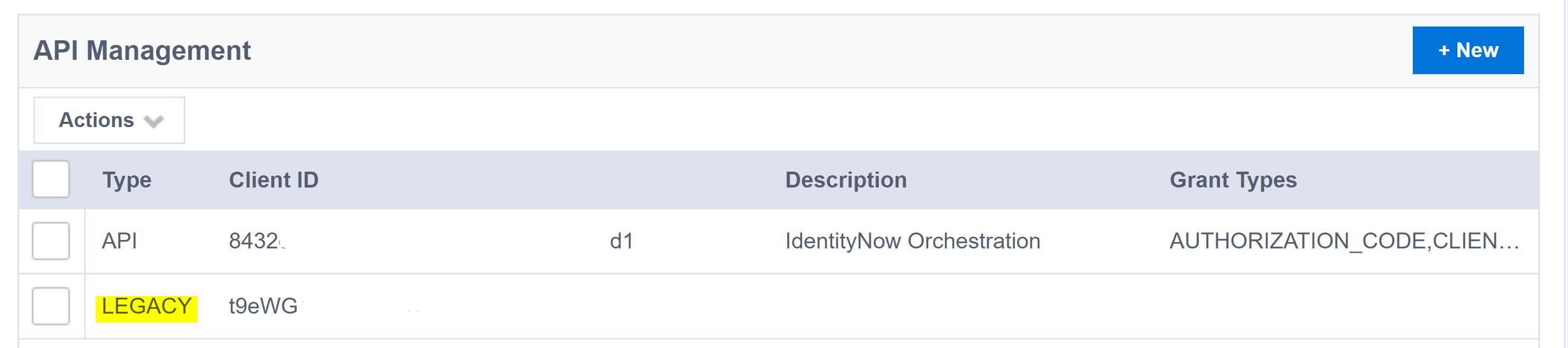 SailPoint IdentityNow v2 and v3 API credentials